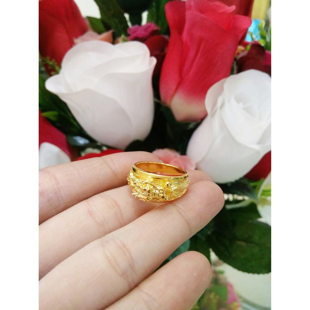 แหวนมังกรทอง งานสวยหรู มีไซร์ 5 6 7 8 9 10 ราคาเพียง 490 บ.เท่านั้นค่ะ
