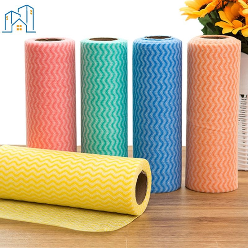 Ready Non Woven Duster Cloth Dish Cloth Break Point No Oil Rag Kitchen Cleaning Cloth ⓠ