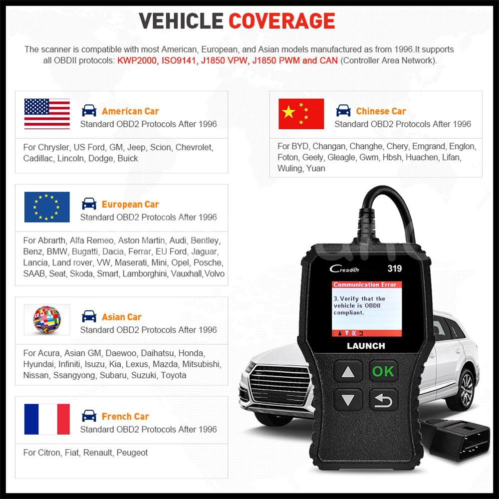 ABS Auto Tool Launch Scanner OBDⅡ Black Automove