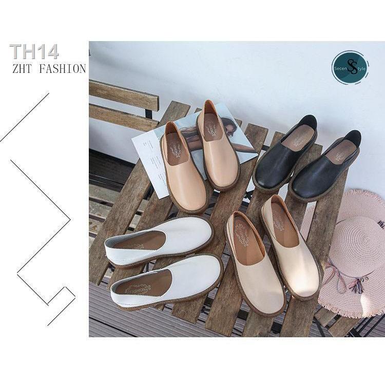 ▬✐*SECEN*  Loafer Shoe  เกรดพรีเมียม มีกล่อง รองเท้าคัชชู รองเท้าโลฟเฟอร์ ผู้หญิง 4 สี รองเท้าสุขภาพ ใส่สบาย หนังนิ่ม