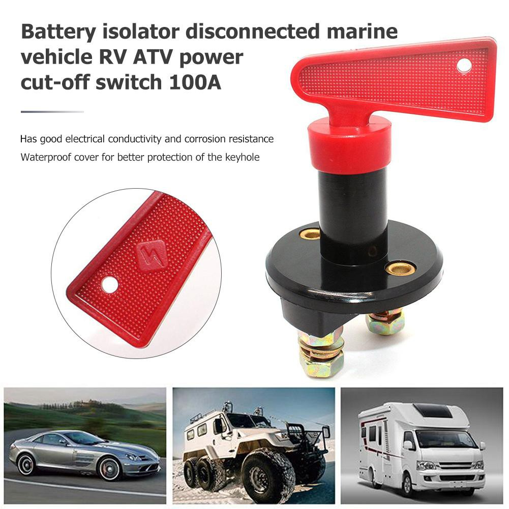 Battery Isolator Disconnect Cut//Off Power Kill Switch for Car RV Boat Marine ATV