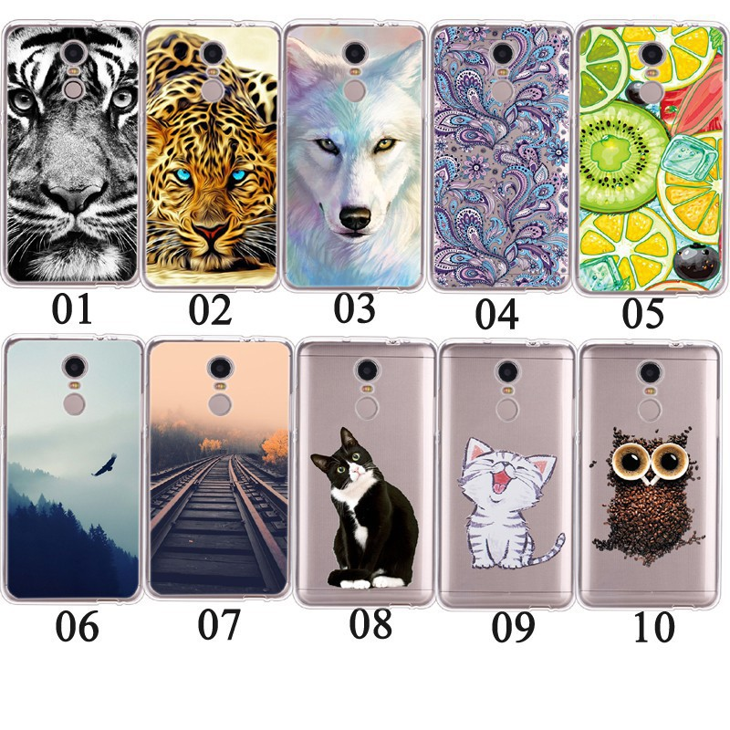 เคสสำหรับ Xiaomi Redmi Note 4 Global Animal Pattern Soft Cover Cover