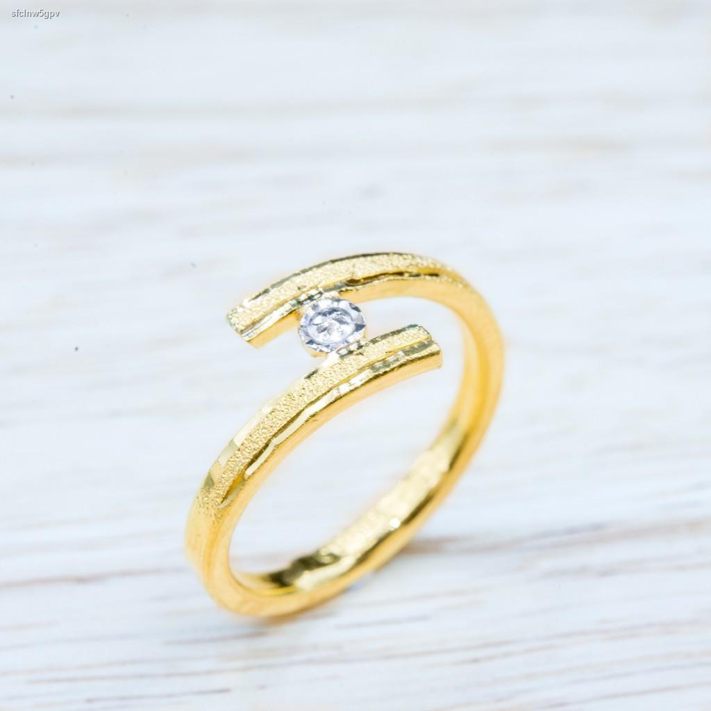 ราคาต่ำสุด◕⭐️ แหวนทอง น้ำหนักครึ่งสลึง