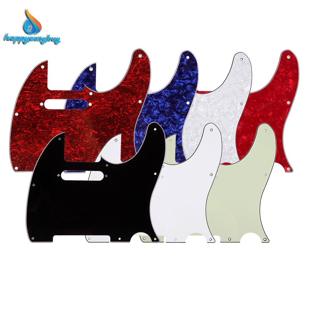 *NEW Black Telecaster PICKGUARD for Fender USA Tele 3Ply 8 Hole *With Neck Holes