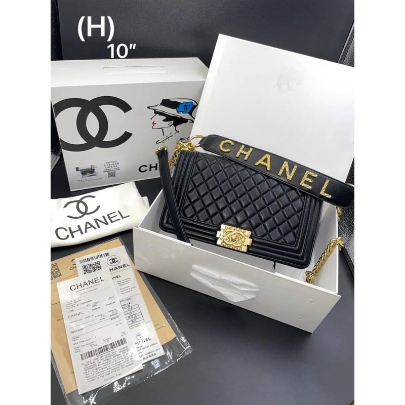 """Chanel  boy งานมิลเลอร์ พร้อมกล่อง Chanel  Size 10"""""""