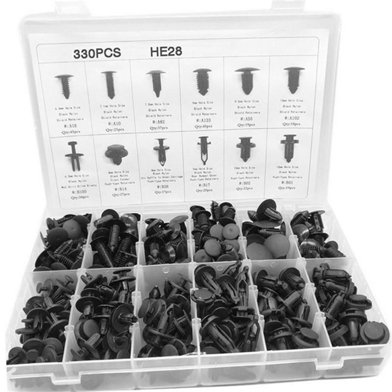 330pcs Car Autos Body Retainer Push Pin Rivet Clip Mouldings Trim Panel 12 Sizes