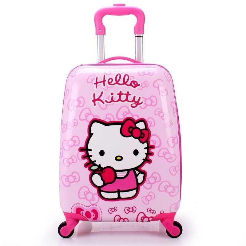 ラ♨กระเป๋าเดินทางเด็ก  กระเป๋ารถเข็นเดินทางกระเป๋าเดินทางนักเรียนรุ่นเกาหลีกระเป๋าเดินทางเด็กผู้หญิงเด็กรถเข็นเด็ก 18 19