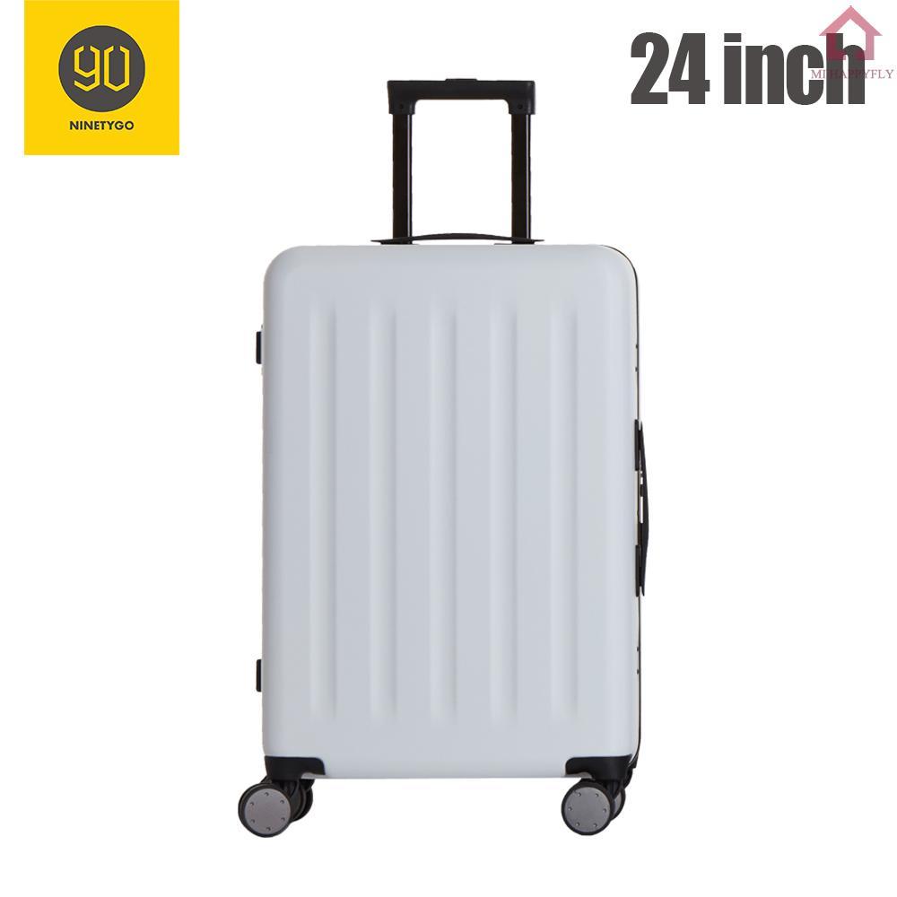 Mi Youpin 90FUN กระเป๋าเดินทางกระเป๋าเดินทางอลูมิเนียม 20-24 นิ้วน้ําหนักเบา 4 ล้อ
