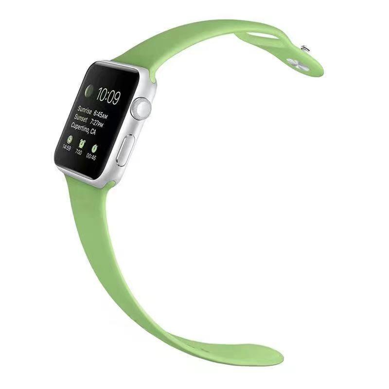 สายนาฬิกา AppleWatch สายซิลิโคน 42 มม. 44 มม. Apple Watch Series SE 6 5 4 3 2 1 สีสันหลากหลาย พร้อมส่ง