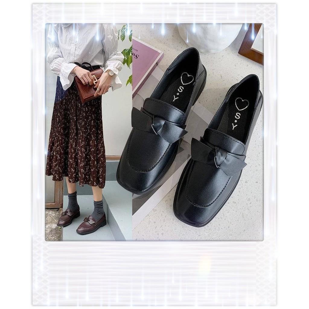 💎💎 มีสินค้า 💎💎 รองเท้าคัชชู ส้นสูง สีดำ นักศึกษา รองเท้าส้นใหญ่สูง รองเท้าแฟชั่นผู้หญิง