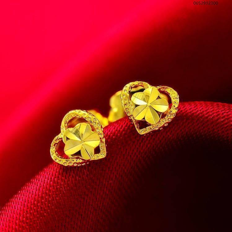 ☆(ราคาถูก)ต่างหูทองแท้หญิงรัก 999 พันต่างหูทองคำยากหูทองแถว 24 พันต่างหูทองคำบริสุทธิ์ไม่ตก♡