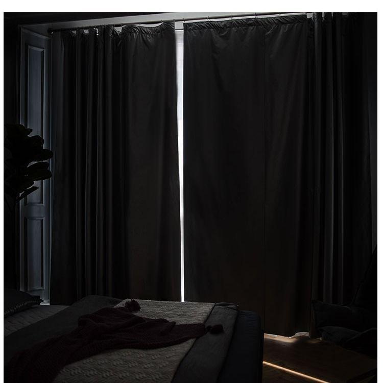 ◇ผ้าม่านบังแสงแบบหนาฟรี ม่านบังแสงสำเร็จรูป ผ้าร่มกันแดด กันความร้อนและผ้าม่านห้องนอนกันแสงระเบียงห้องนอน
