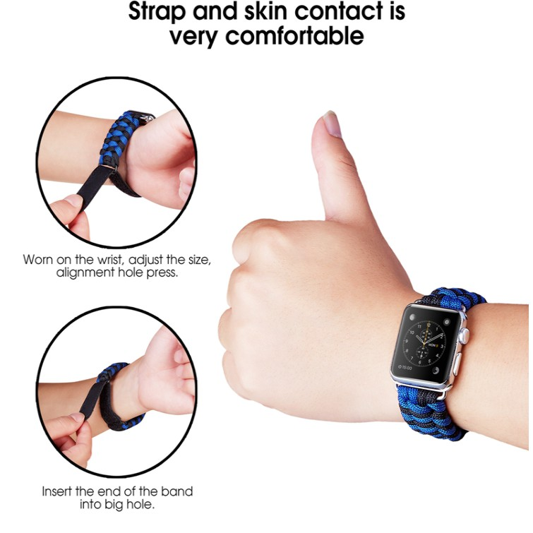 Velcro cord apple watch strap สายรัดเวลโคร iwatch series SE 6 5 4 3 2 1  Velcro cord watch strap 38 40 42 44mm