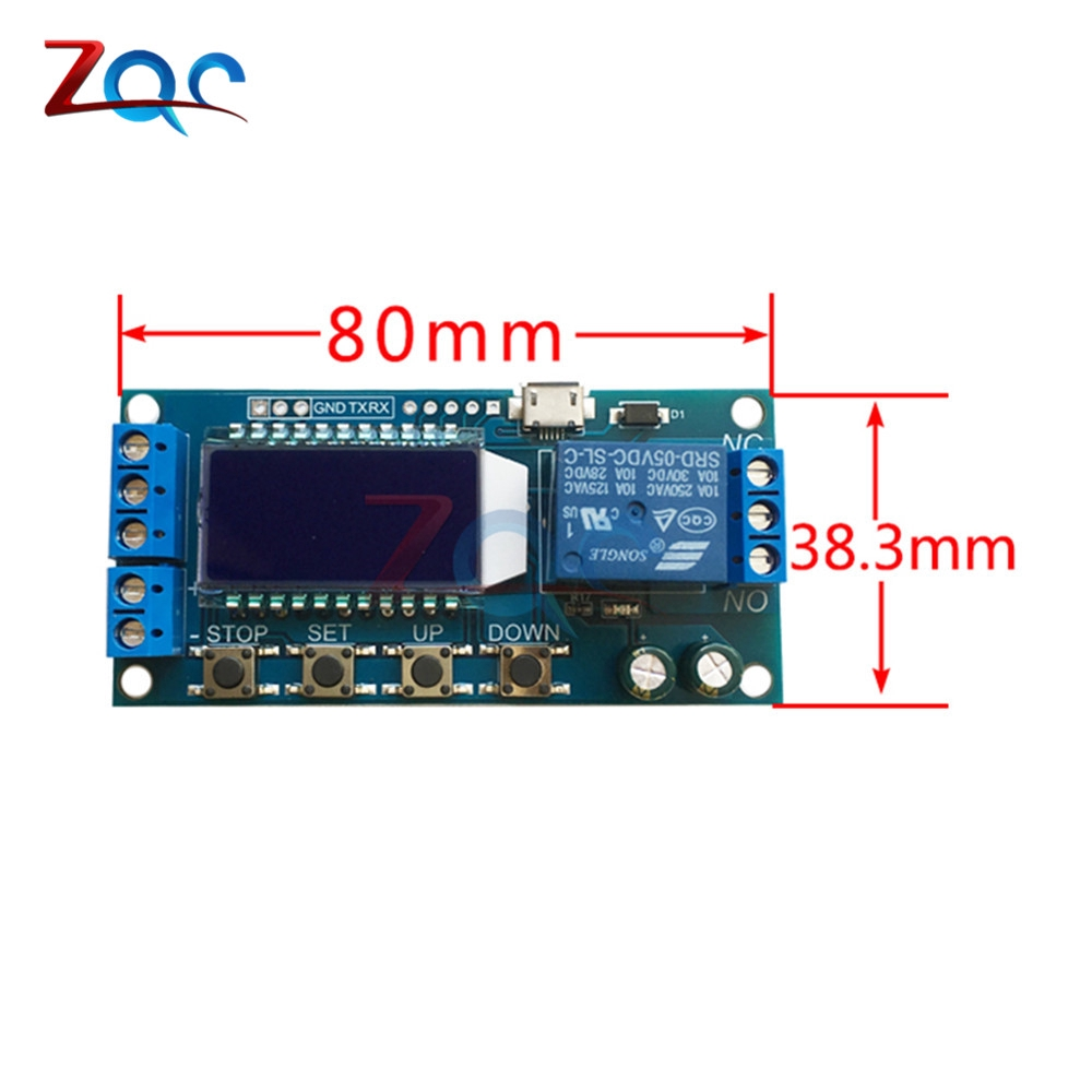 Micro USB LCD Display Time Delay Relay Module DC 6-30V Multifunction timer