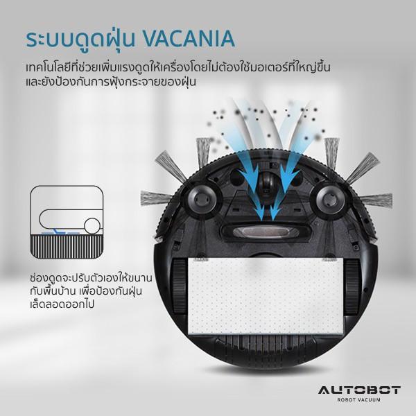 AUTOBOT หุ่นยนต์ดูดฝุ่น ถูพื้น เครื่องดูดฝุ่น โรบอท ระบบ Fuzzy Moving รุ่น MINI robot vacuum cleaner kVIU