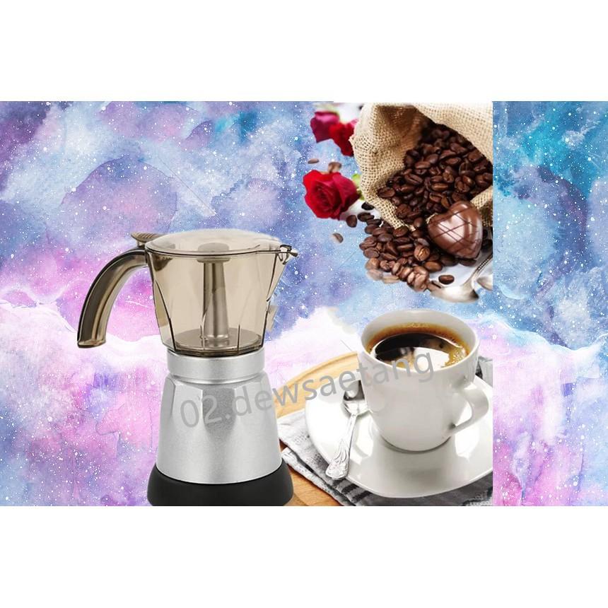 CAF อุปกรณ์ชงกาแฟ เครื่องทำกาแฟ Moka pot ใช้ไฟฟ้า ที่ชงกาแฟ