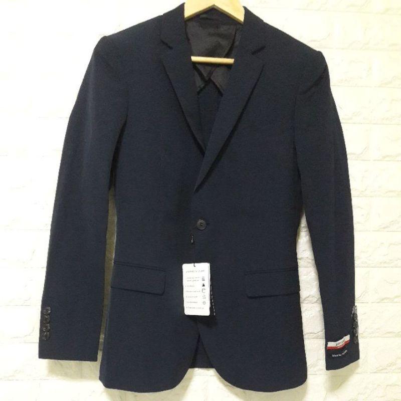 G2000 เสื้อสูทผู้ชาย ผ้าเจแปน ทรง Slim Fit ไซส์44/S สีกรมท่า