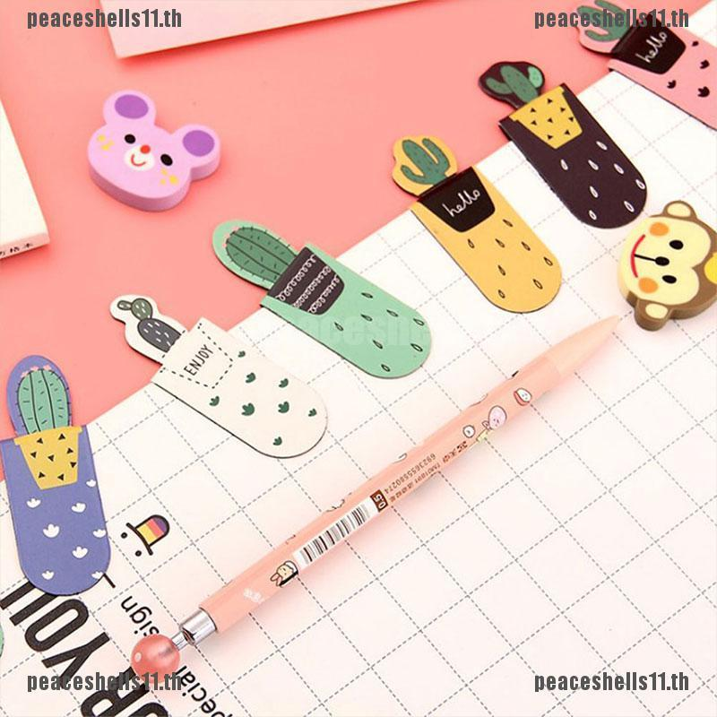 【peace】1set/3pcs Fresh Cactus Books Marker of Page Stationery School Office Supp