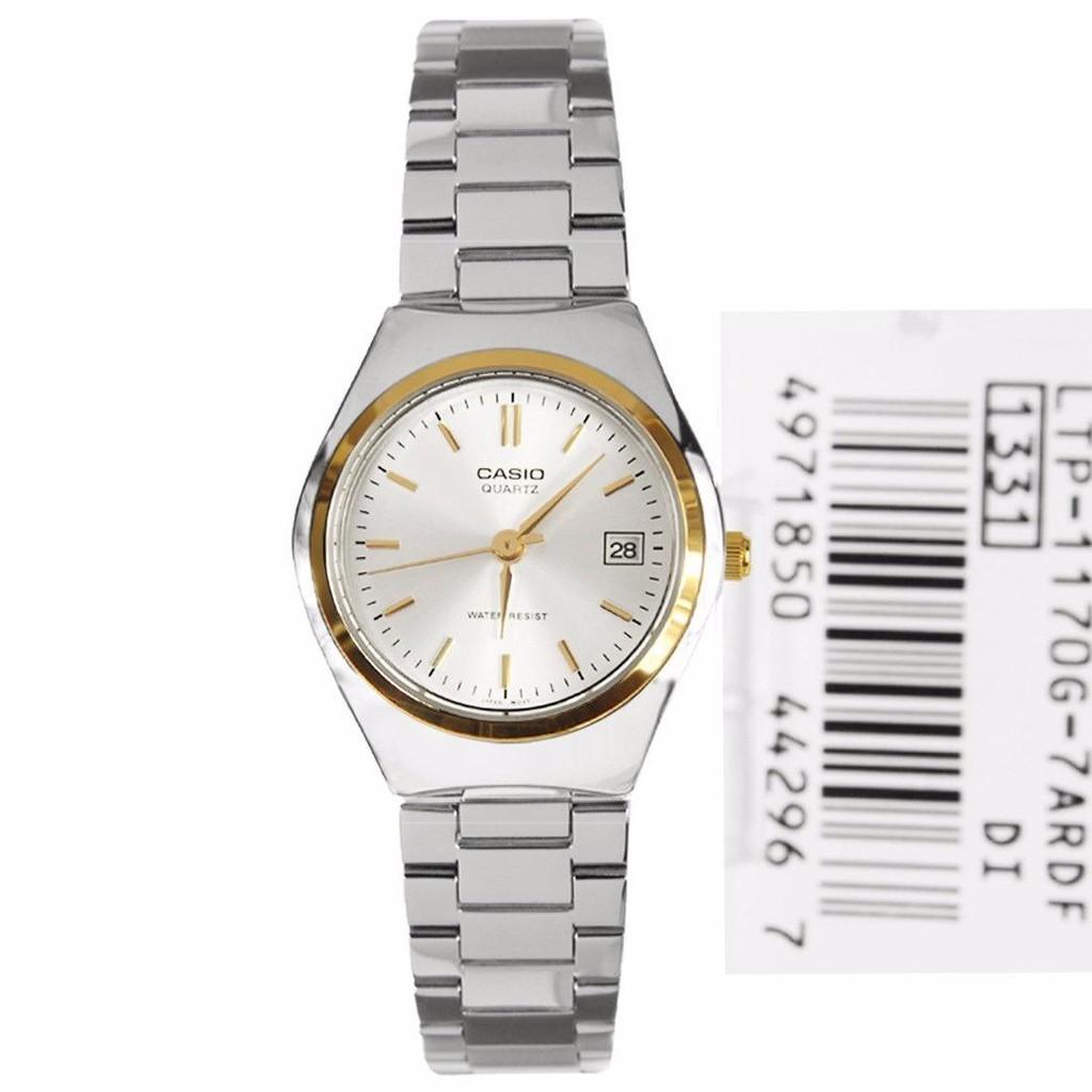 👍✅💯▼☢Casio Standard รุ่น LTP-1170G-7A นาฬิกาข้อมือผู้หญิง สีเงิน สายสแตนเลส - มั่นใจ ของแท้ 100% รับประกันสินค้า 1 ปี