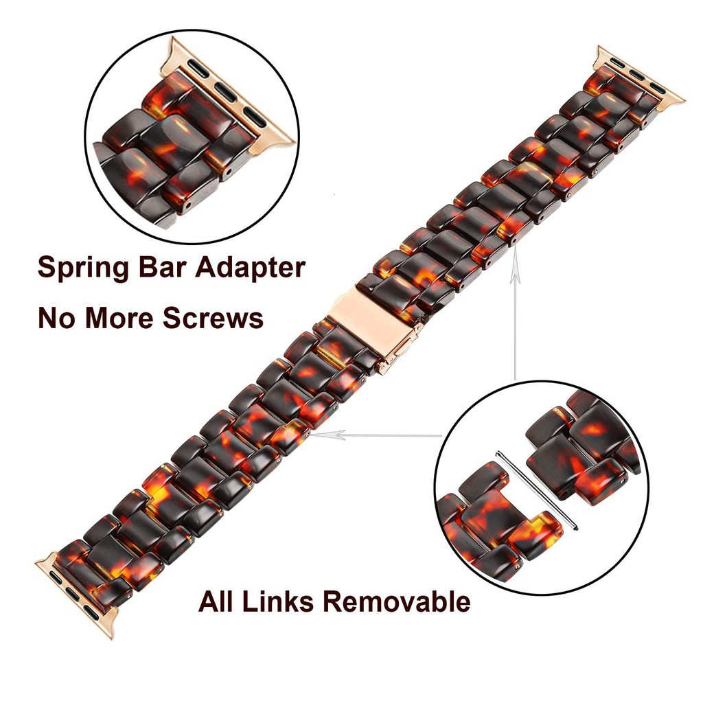 ♤สายนาฬิกา Apple Watch Resin Straps เรซิน สาย Applewatch Series 6 5 4 3 2 1,  Apple Watch SE Stainless Steel สายนาฬิกาข้