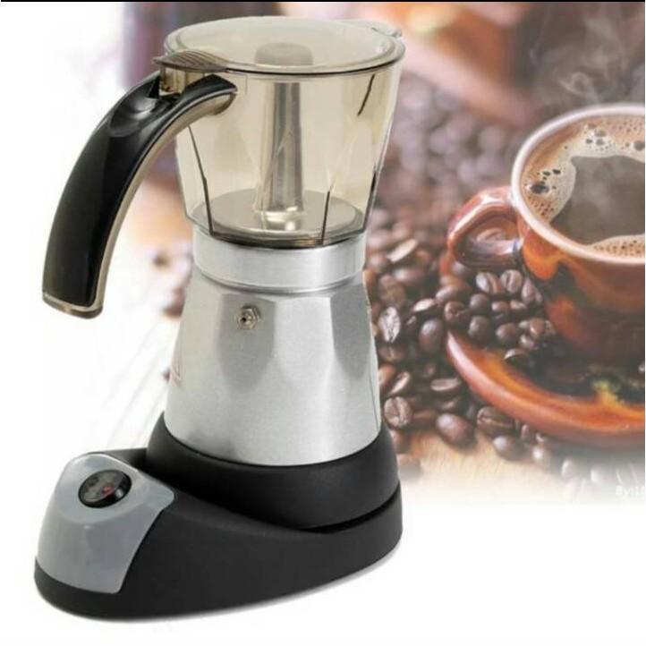 กาต้มกาแฟ เครื่องทำกาแฟ Moka pot ใช้ ไฟฟ้า////พร้อมส่ง💥💥💥