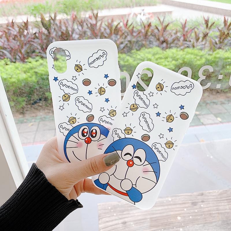 เคส Samsung J8 J7 J6 J6+ J4 J4+ A9 A7 M20 M30s M31 A10s Note 8 9 S10 Cartoon Prime Plus Pro 2018 Cute Doraemon TPU Soft White case