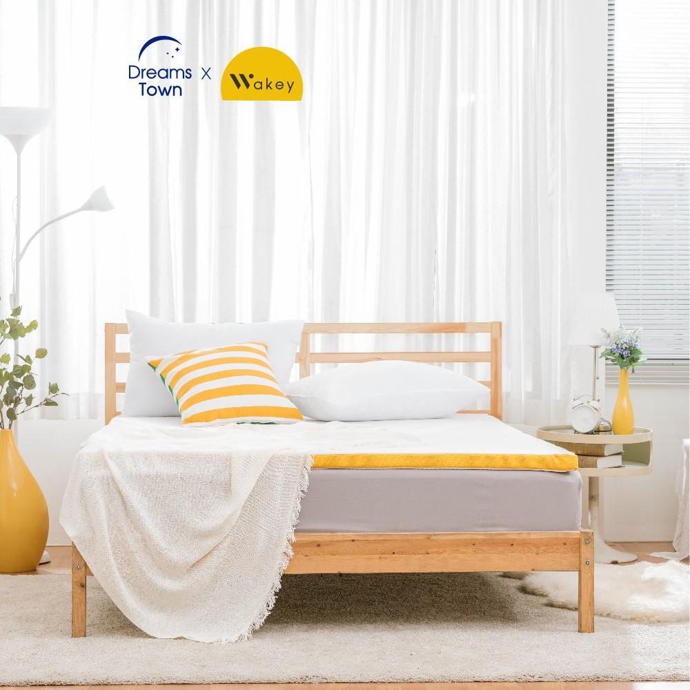 ❂✵Wakey ที่รองนอน ท็อปเปอร์เมมโมรี่โฟม เพิ่มความนุ่มของที่นอนให้ดีขึ้น Topper หนา 4 ซม 3ฟุต 3.5ฟุต 5ฟุต 6ฟุต