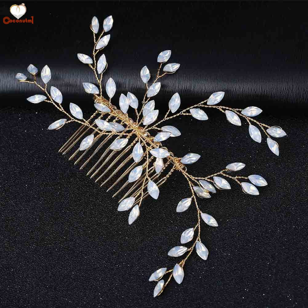 New Gorgeous embroidered Hair Clip Claw w Shinny Crystals Hair Accessories