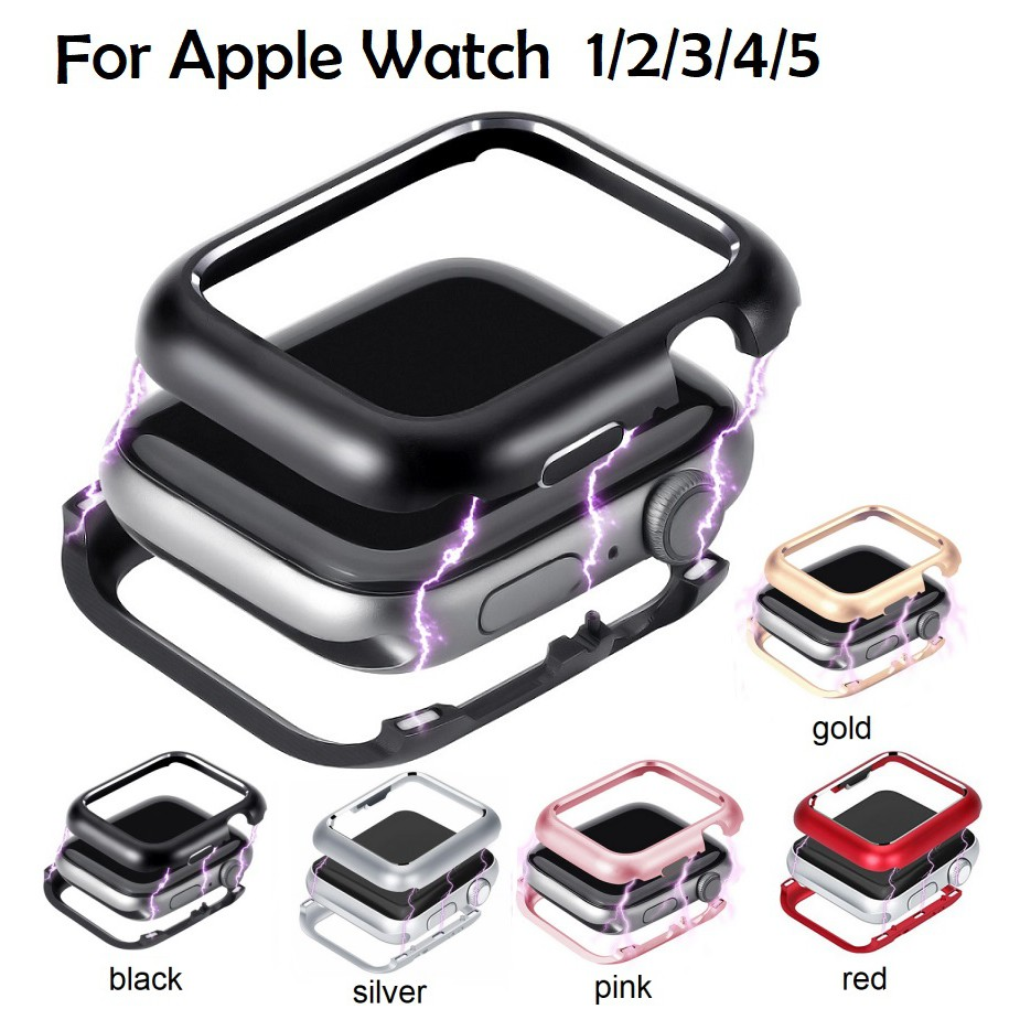 เคส Apple watch Series 6 5 4 3 2 , Apple Watch SE Case Magnetic cover for iWatch 44mm 42mm 38mm 40mm case Frame protective case bumper