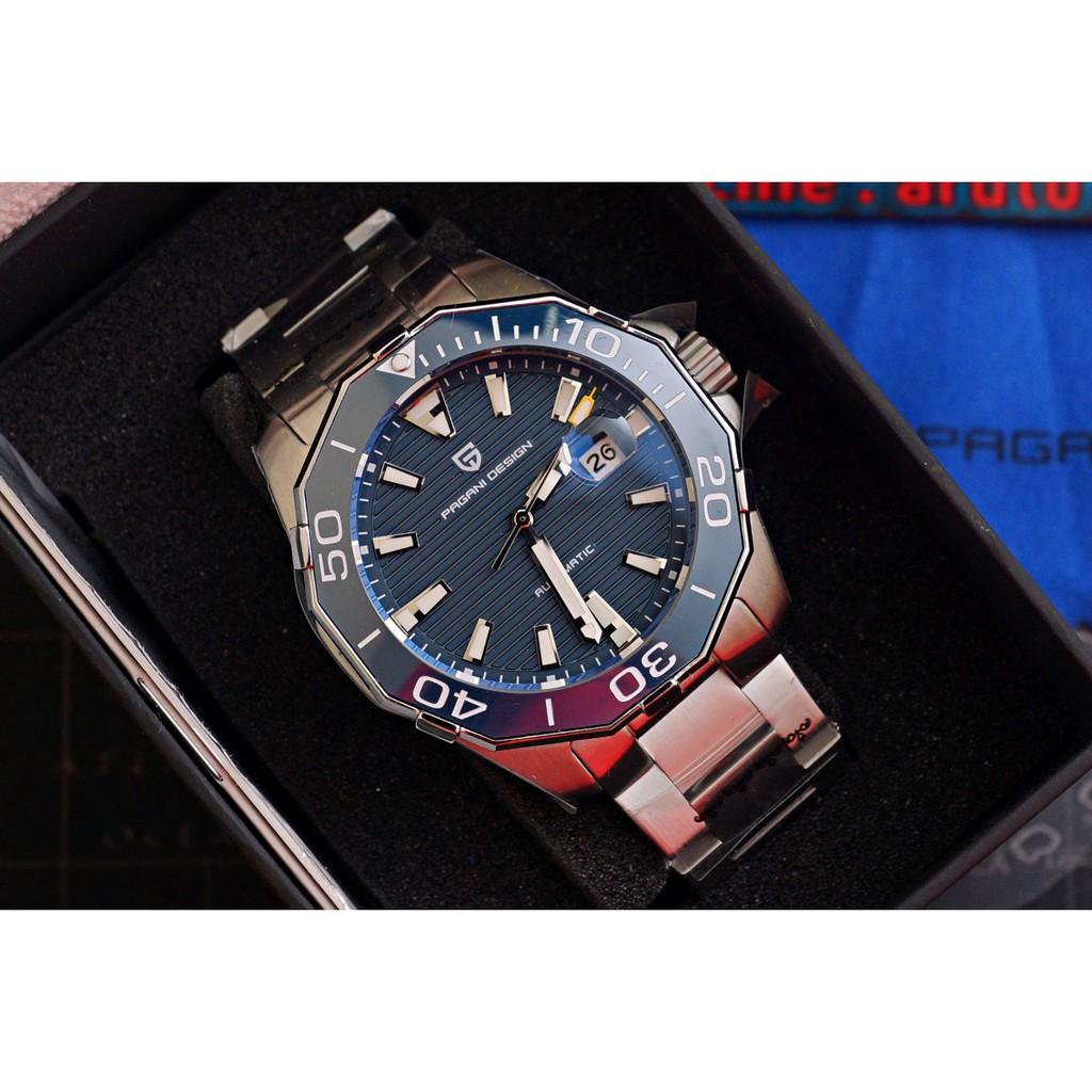 PAGANI DESIGN PD1617 นาฬิกา automatic  กระจก Sapphire qOoE