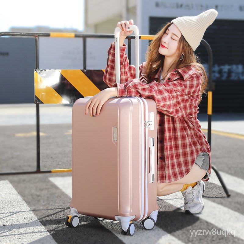 กระเป๋าเดินทางกระเป๋าเดินทางผู้หญิงinsเครือข่ายน้ำสีแดง20นิ้วน่ารักดึงกล่องรหัสผ่านเวอร์ชั่นเกาหลี24/26กระเป๋าเดินทางนัก