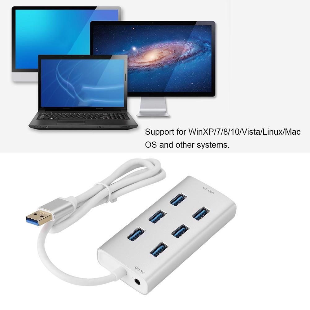 ORICO Aluminum 4 Ports USB 3.0 Hub for Windows 7 8 Mac OS 10 Linux