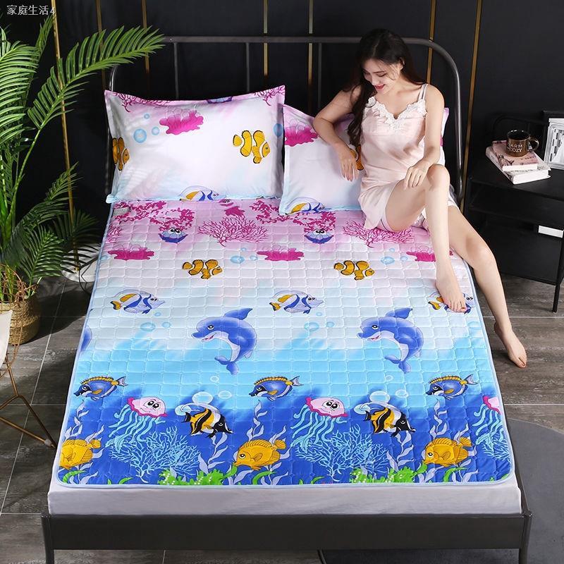 ❁ผ้ารองกันเปื้อน & topperบาง ที่นอนกันลื่น, ที่นอนบาง ผ้ารองกันเปื้อนที่นอน ขนาด 3.5 ฟุต 5 ฟุตและ 6