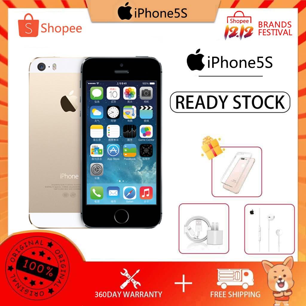 Apple iphone 5s มือถือราคาถูก iphone 16/32GB ของแท้ 100% มือสอง ไอโฟน4s โทรศัพท์ราคาถูก 5S ไอโฟนมือ2 โทรศัพท์มือสอง COD