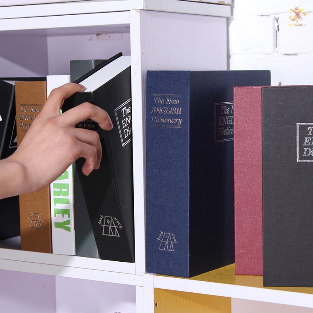 Hidden Secret Safe Book Lock Box Key Security Hide Valuables Money Cash Storage