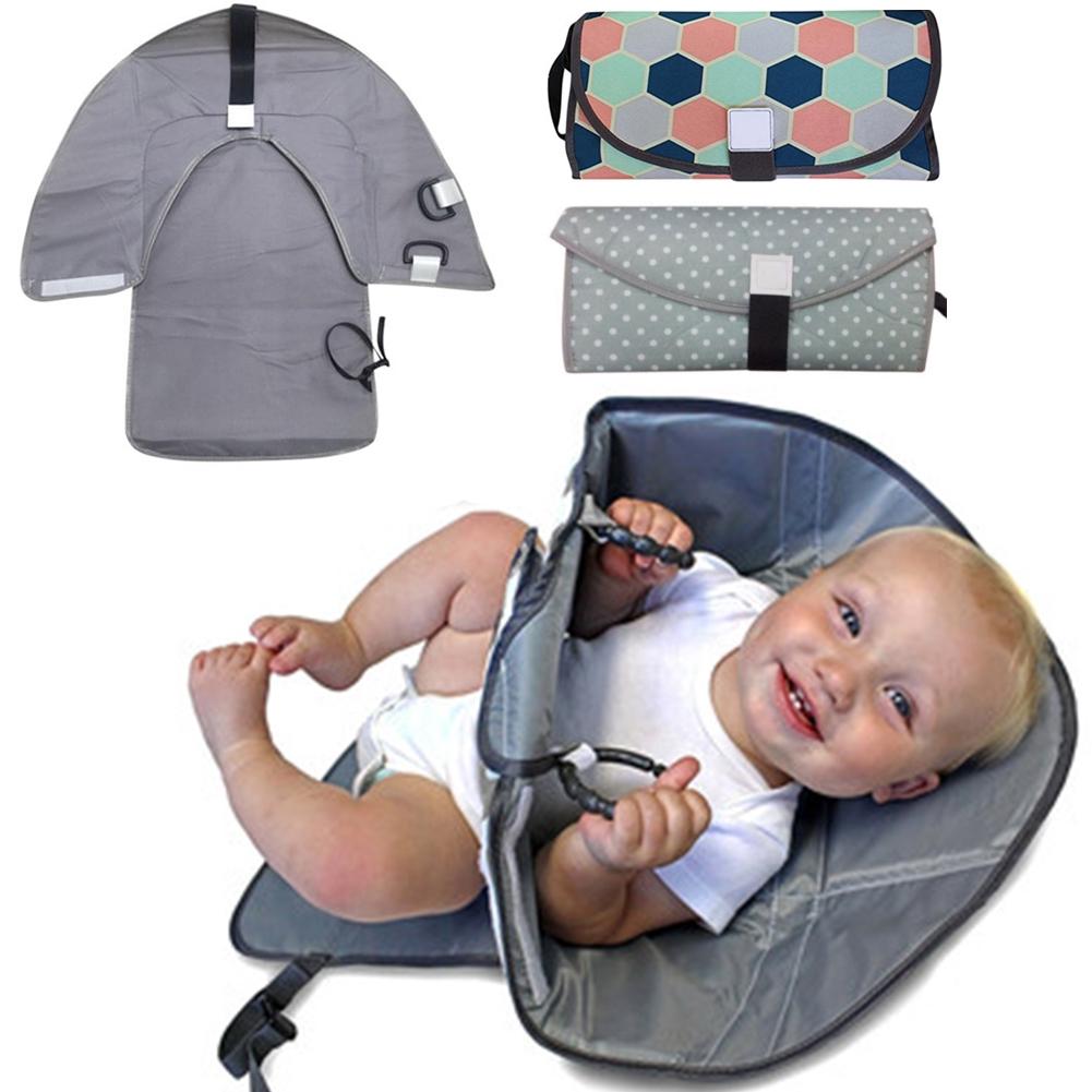 Baby Portable Folding Diaper Travel Changing Pad Waterproof Mat 8C