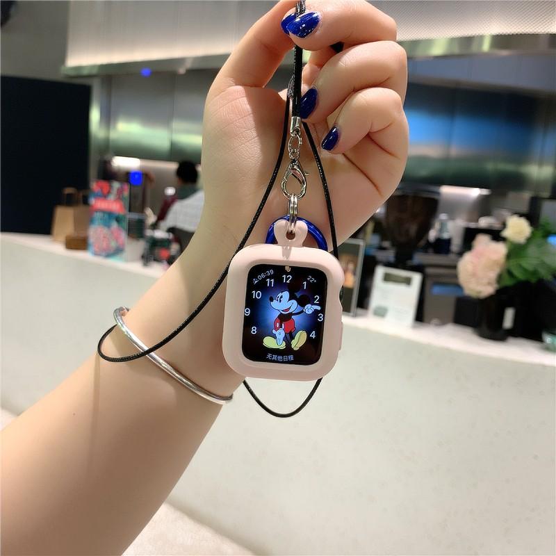 เหมาะสำหรับ iwatch สายคล้องคอซิลิโคนสร้อยคอกันน้ำ apple watch 2/3/4/5 รุ่น apple watch case
