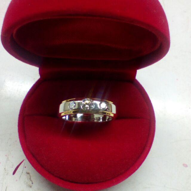 แหวนเงินแท้925ชุบสองสีลุกค้าสามารถเลือกชุบได้ทั้งสีทองชุบทองคำขาวชุบพิ้งโกล์ในราคาเดียวกัน