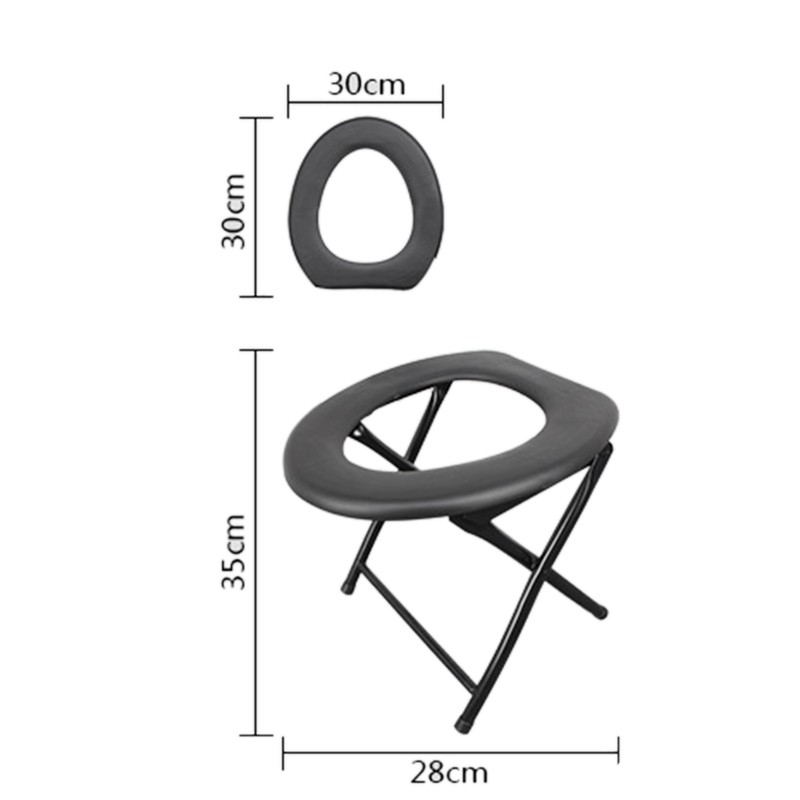 Toilet Portable Chair Camping Travel Festival Park Fishing Outdoors Seat 30CM