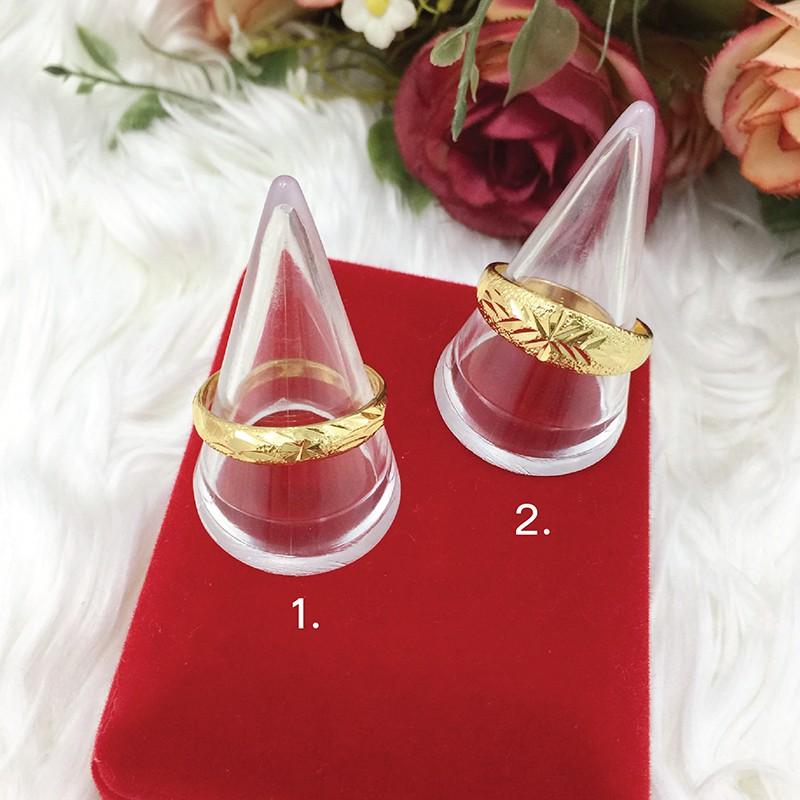 แหวนทอง คละลาย แหวนตัดลาย แหวนครึ่งสลึง ทองหุ้ม ทองปลอม ทองชุบ ฟรีถุงกำมะหยี่