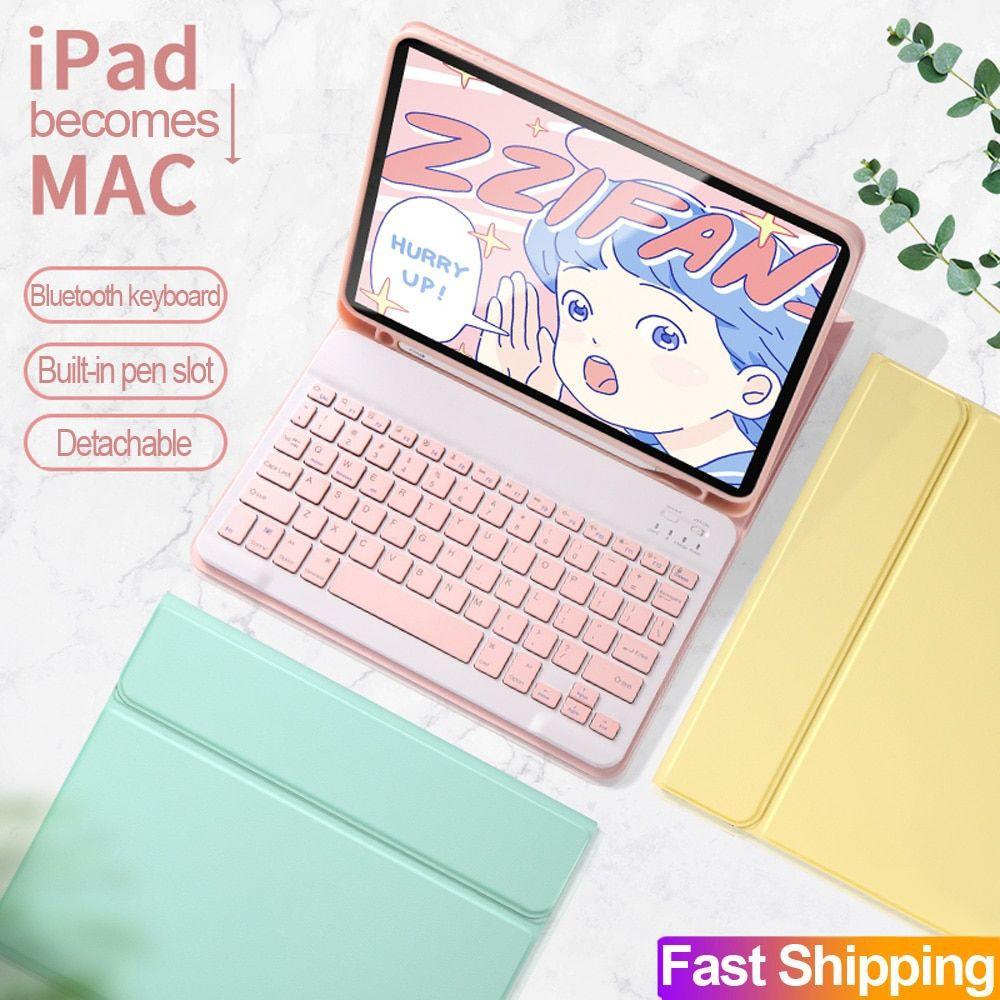 เคสไอแพด iPad Case /Smart Keyboard CASE เคสคีย์บอร์ดภาษาไทย เคสหนัง รุ่น ipad 10.2 Gen7/8 /ipad5/6 ari1/ari2/pro 9.7