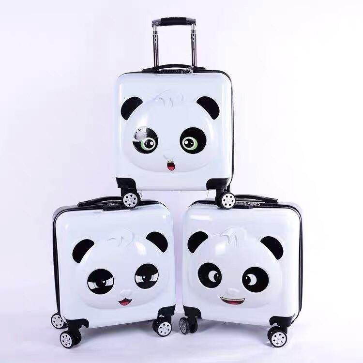กระเป๋าเดินทาง กระเป๋าขึ้รเครื่อง ไซส์18นิ้ว กระเป๋าเดินทางล้อลาก ลายการ์ตูน เนื้อabs+pc กระเป๋าเดินทาง18นิ้ว