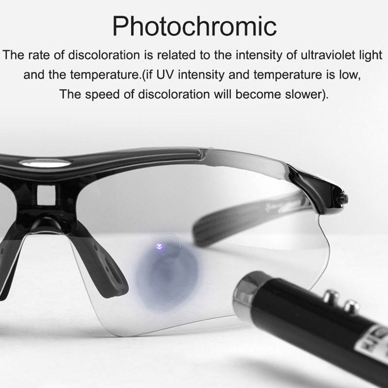 ROCKBROS Photochromic Cycling Glasses Bicycle UV400 Sports Eyewear Ultralight Riding MTB Sunglasses Men Fishing Bike Equ