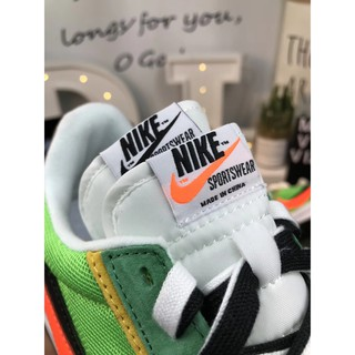 265aabec63 ... Nike Air Vapormax FX green yellow orange LVD with Waffle Daybreak Fusion  joint double hook pair of shoe tongue. ถูกใจ: 0