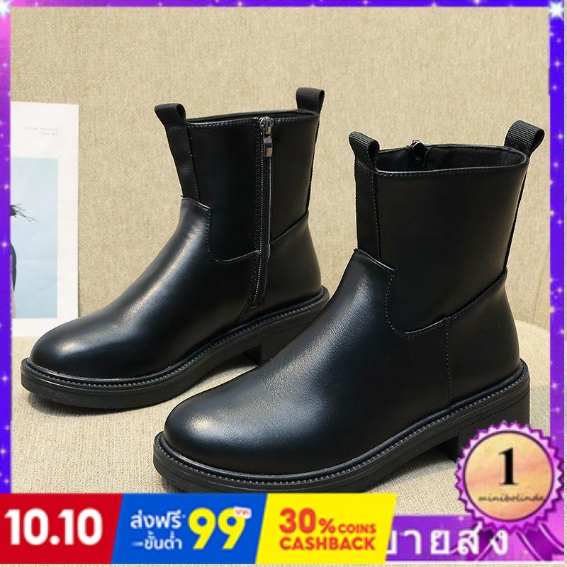 ⭐👠รองเท้าส้นสูง หัวแหลม ส้นเข็ม ใส่สบาย New Fshion รองเท้าคัชชูหัวแหลม  รองเท้าแฟชั่นใหม่บวกกำมะหยี่หนากับรองเท้าผู้หญิง
