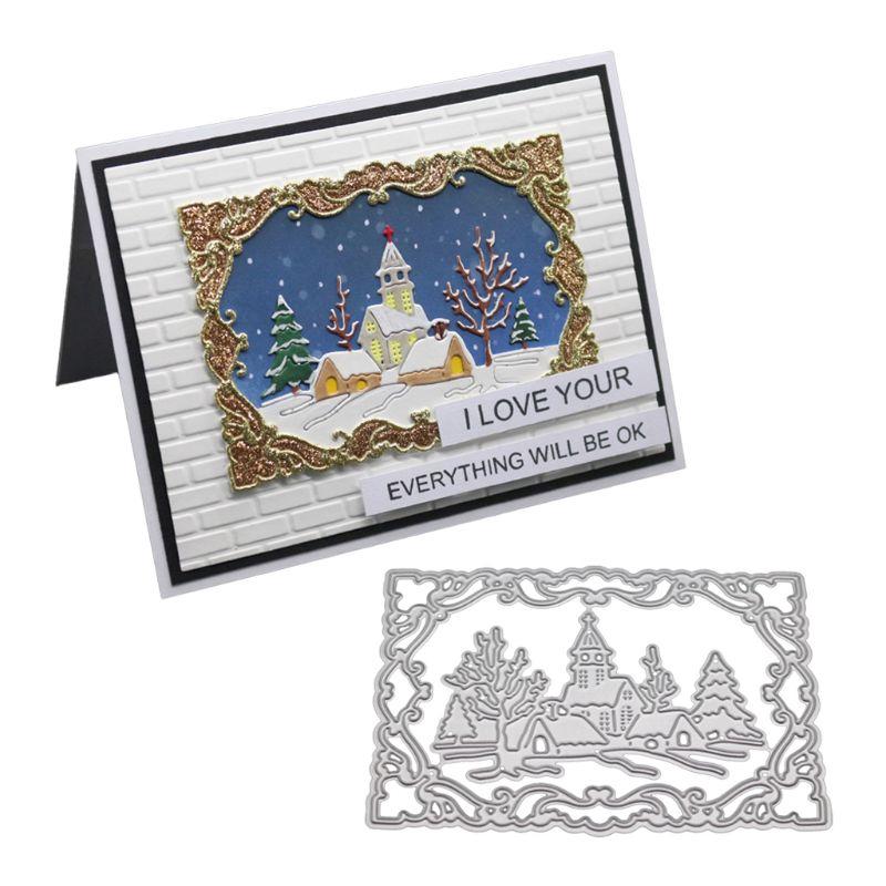 Christmas Metal Cutting Dies Stencil DIY Scrapbook Embossing Paper Card Decor