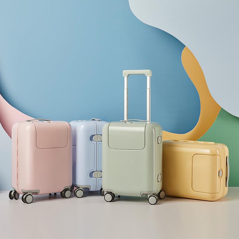 げ❄ กระเป๋าเดินทางล้อลากใบเล็ก กระเป๋าเดินทางล้อลากเด็กเด็กรถเข็นกระเป๋า17นิ้วใบ้สากลล้อขึ้นเครื่องกระเป๋าเดินทางนักเรียน