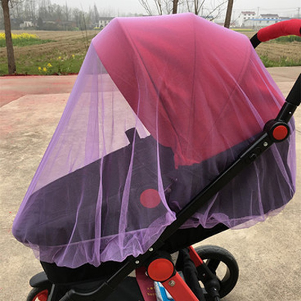 Pink Stroller Pushchair Pram Mosquito Fly Insect Net Mesh Buggy Cover for Baby Infant