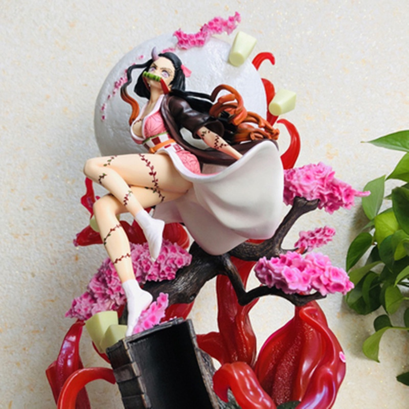 เครื่องประดับ:Action Figure Effect Demon Slayer Jaanese Anime Toys Gk Statue  Collectible Model Doll Gifts Home Decorati