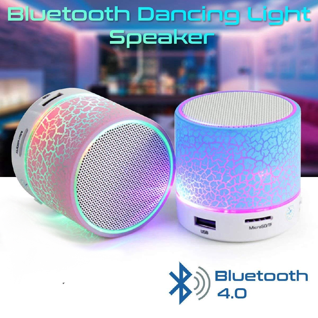 LED Wireless Bluetooth Stereo Speaker Portable Subwoofer Super Bass Mic Colorful